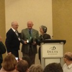 Ann and Paul Vautour receive recognition awards.